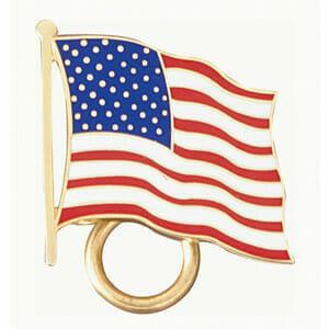 Patriotic flag charm