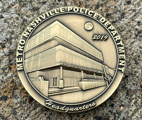 police headquarters coin