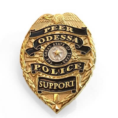 custom mini police lapel pin badge