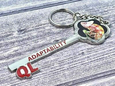 full color printed keychain