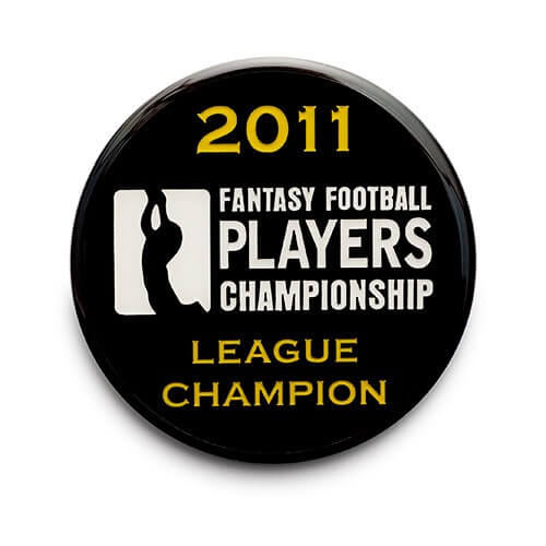 printed lapel pin for fantasy football league