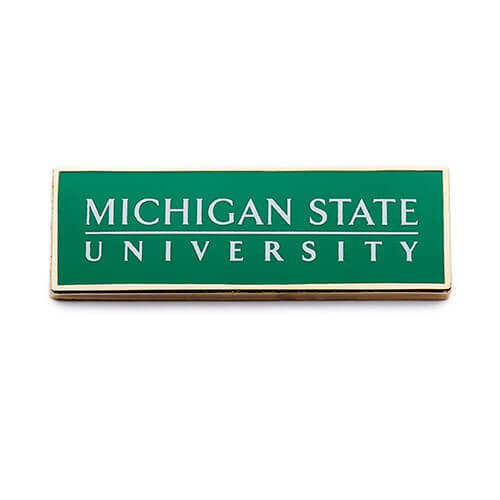 printed lapel pin for university