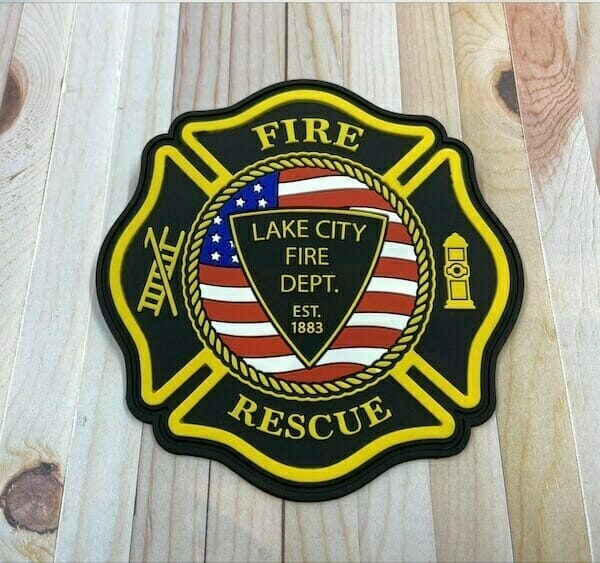 pvc firefighter patch