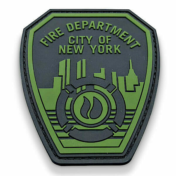 custom rubberized new york fire department patch