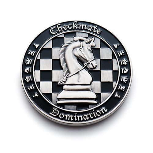 chess coin in 3d