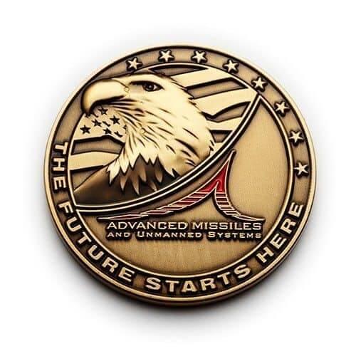 raytheon eagle coin