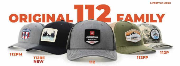 custom richardson 112 hats