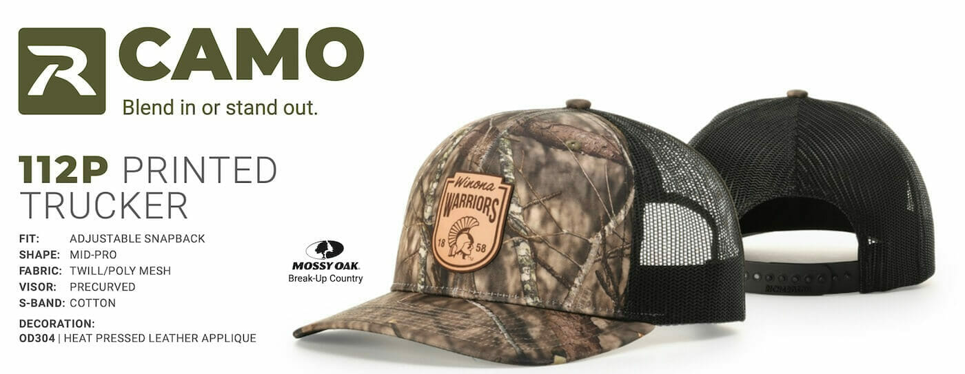 richardson 112 camo with patch