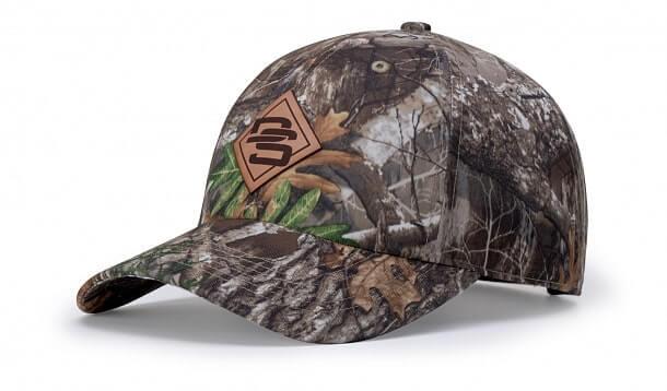 richardson camo leather patch hat