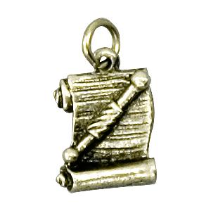 scroll lapel pin
