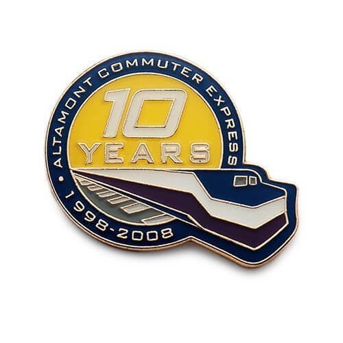 company service pin for 10 year-anniversary
