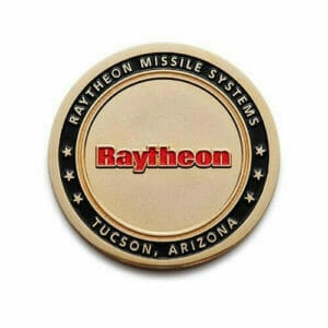 raytheon gold coins