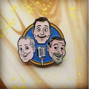 cartoon characters pin