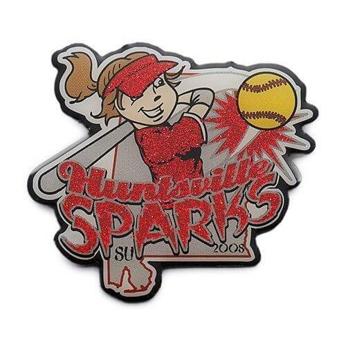 girls softball custom trading pins
