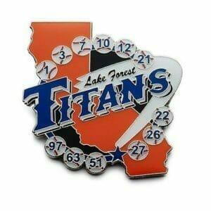 titans baseball trading pin