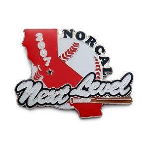 printed baseball trading pins for Norcal