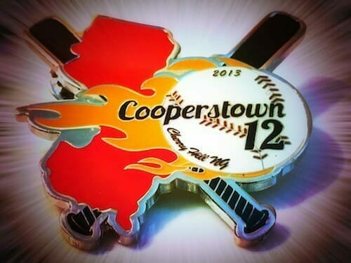 cooperstown baseball pin