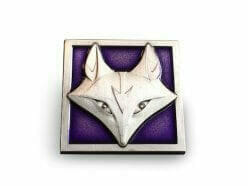 enamel lapel pin fox design