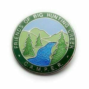 Friends of Big Hunting Creep CAMPER transparent enamel pin