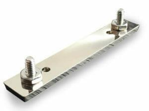 double screw back lapel pin attachment