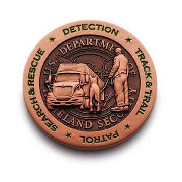 us border patrol coin in 3d