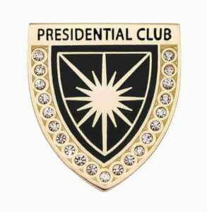 presidential service pin