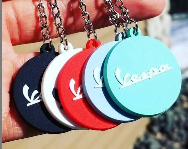 custom vespa keychains