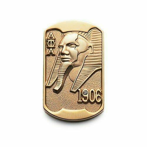 gold metal pin pharaoh design