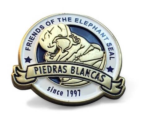 company awareness pin with seal