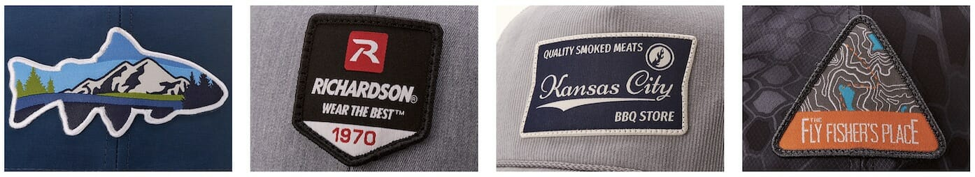 woven hat patches