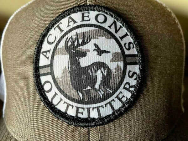 woven patch on hat